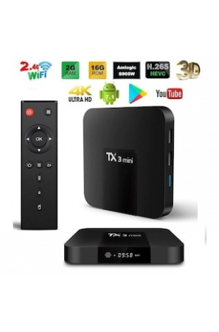 TX3 Mini TV BOX 2GB+16GB KODI 2019 TRT Bandrollü 4K Android 7.1