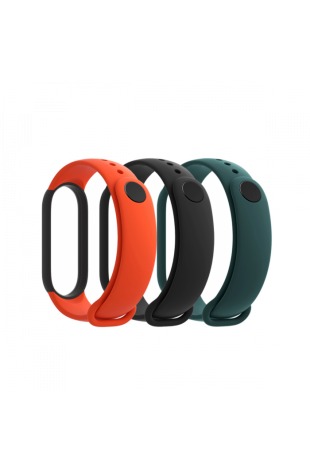 Xiaomi Mi Smart Band 5 Strap (3-Pack) Black + Orange + Green