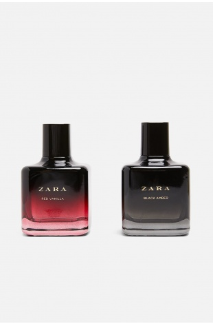 ZARA RED VANILLA EAU DE TOILETTE 100 ML + ZARA BLACK AMBER EAU DE TOILETTE 100 ML